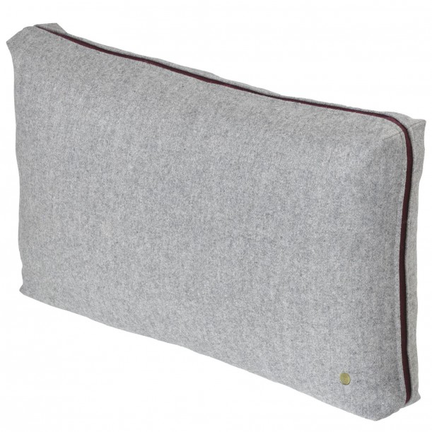 Light Grey Wool Cushion Ferm Living