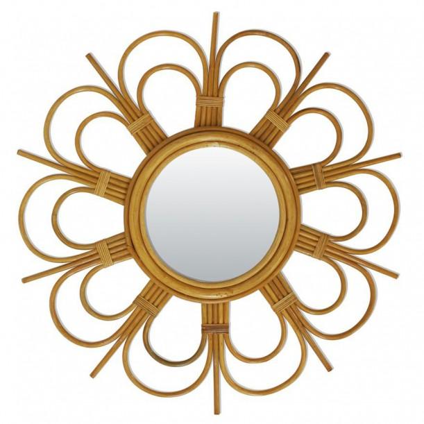 Rattan Vintage Mirror Daisy Bakker