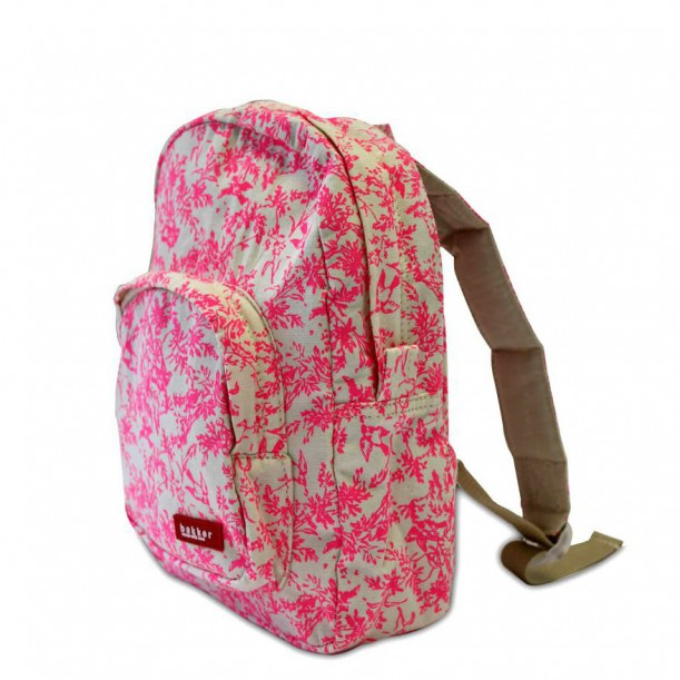 Backpack Mini Jouy Rose Fluo Bakker