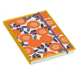 Orange Flowers Notebook Mr & Mrs Clynk