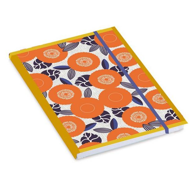 Orange Flowers Notebook Mr & Mrs Clynk