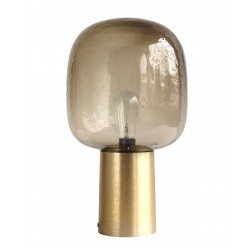 Table Lamp Note brass and grey glass House Doctor