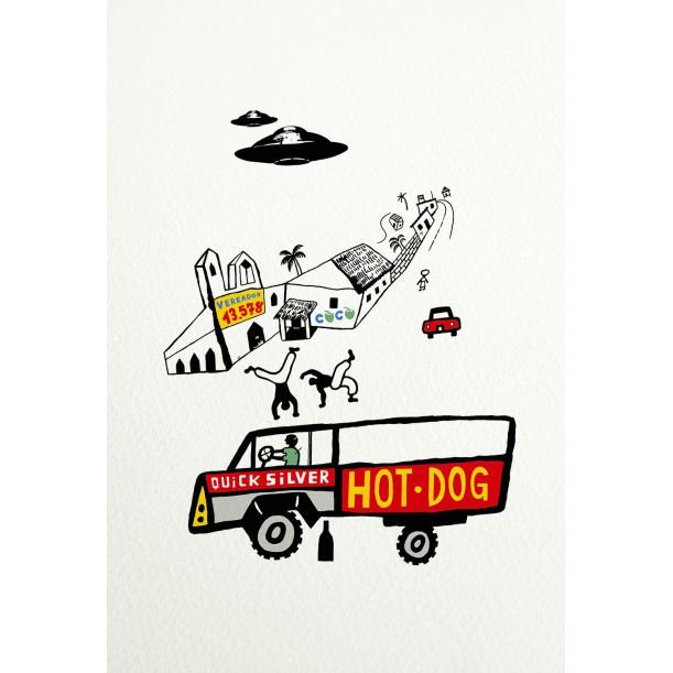Affiche Hot Dog de Vivez l'Instant