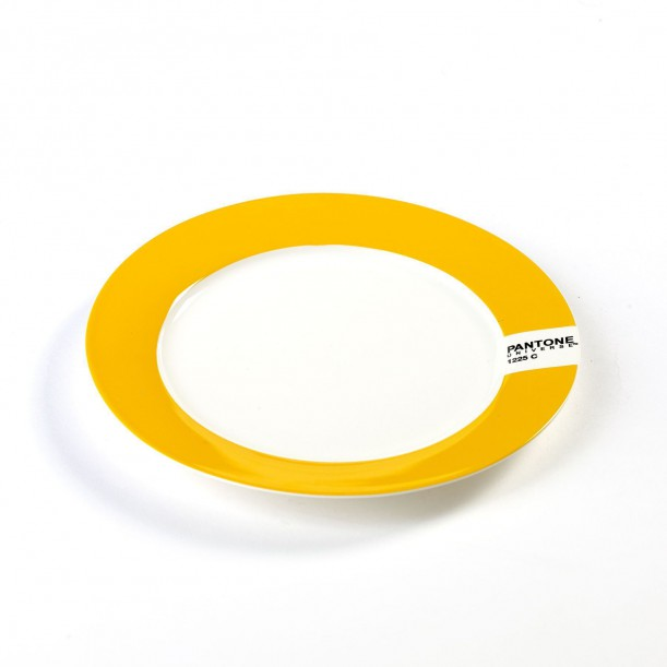 Small Plate Yellow 1225C Pantone Diam 20 cm Serax