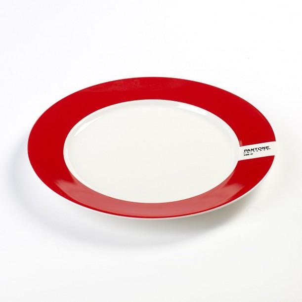 Assiette Plate Pantone Rouge 186C Diam 25 cm Serax