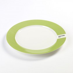 Plate Light Green 376C Pantone Diam 25 cm Serax