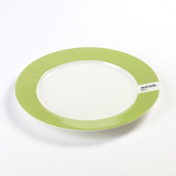 Plate Light Green 376C Pantone Diam 25 cm Serax
