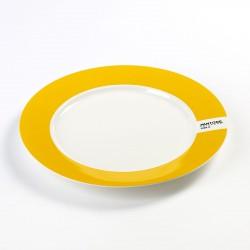 Plate Yellow 1225C Pantone Diam 25 cm Serax