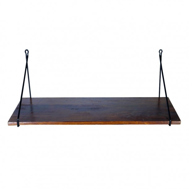 Shelf Mango 24 x 70 cm with Black Brakets House Doctor
