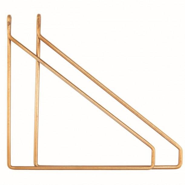 Brass Brakets for Shelf House Doctor