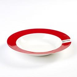 Assiette Creuse Pantone Rouge 186C Diam 22 cm Serax