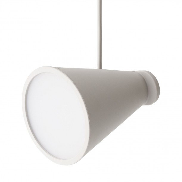 Lampe Bollard Cendre Spot Silicone à Poser ou à Suspendre Menu