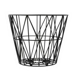 Wire Basket Black Medium Ferm Living