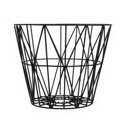 Wire Basket Black Medium Ferm Living