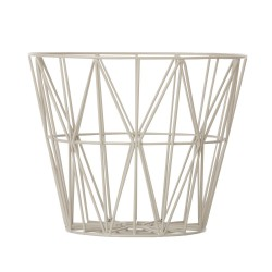 Wire Basket Grey Medium Ferm Living