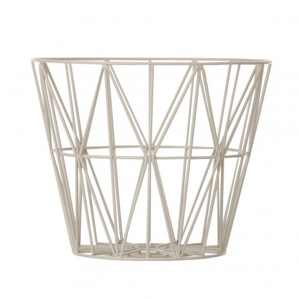 Wire Basket Grey Medium Ferm Living