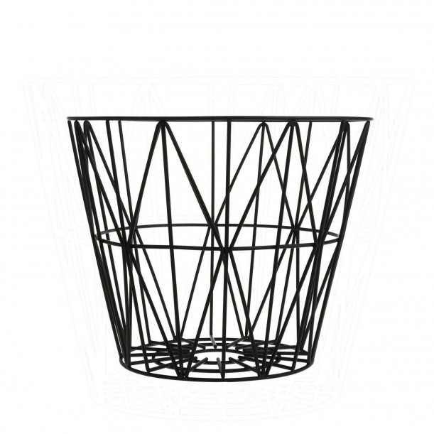 Wire Basket Black Small Ferm Living