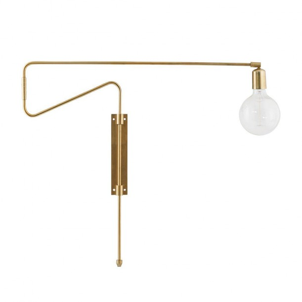 Wall Lamp Brass Swing Large pivot arm House Doctor