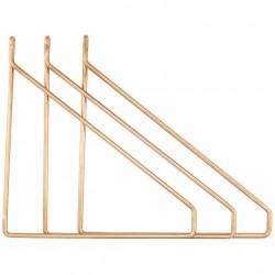 3 Brass Brakets for Shelf House Doctor
