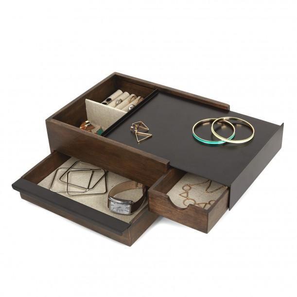 Stowit Black Jewelry Box Umbra