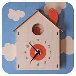 Horloge Murale Cabane à Oiseaux pour Enfants Modern Moose