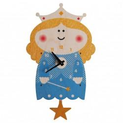 Horloge Murale à Balancier Princesse pour Enfants Modern Moose